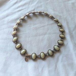 Lia Sophia Multi-faceted Cabochon Stone Necklace